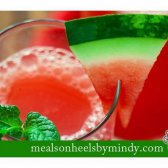 Tomaten-Basilikum-Wassermelone mocktail [Rezept]